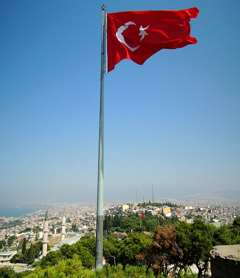 waving flag, Izmir, Turkey, travel, photography, bucketlist
