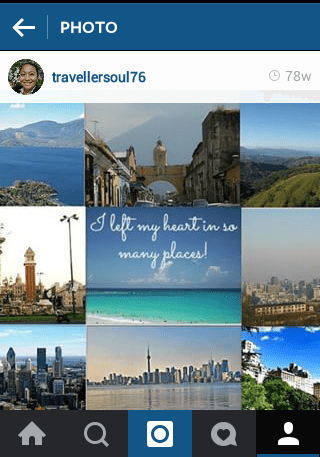 Travellersoul76 Instagram photo collage