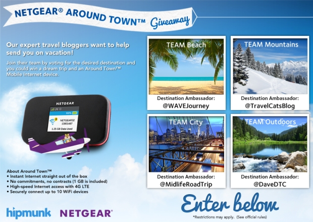 NETGEAR, NETGEAR Around Town Giveaway, Travel