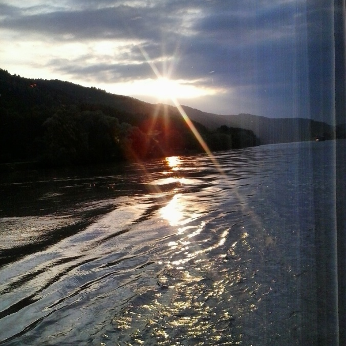 Sunset, Viking Cruises, river cruise, Danube, Donau, Austria, travel, photography, TS76