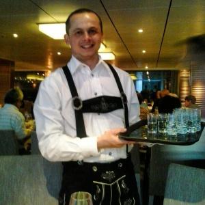 Viking Cruises, river cruise, Viking Atla, Danube, Austria, Maître D', Ivelin, costume, travel, photography, TS76