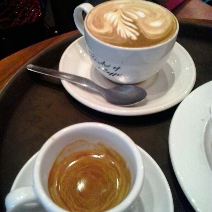 coffee, café, Budapest airport, flat white, espresso, TS76