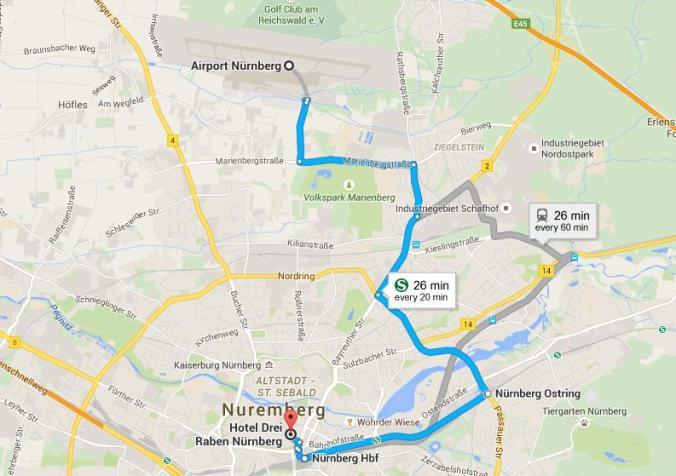 map, google map, transportation, Nuremberg, Airport, Hotel Drei Raben, Nürnberg, Deutschland, travel, TS76