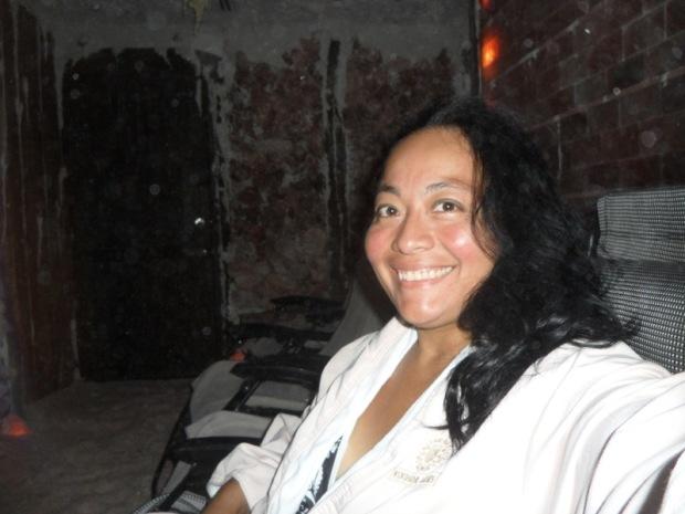 Karla, Windsor Arms Hotel, spa, Healing Salt Cave, salt crystals, Toronto, Ontario, Canada, TS76