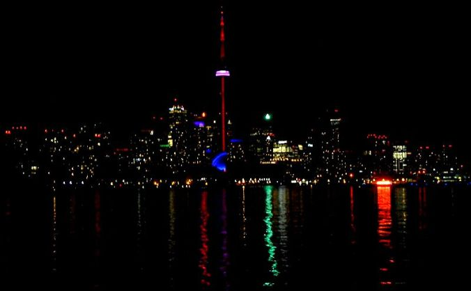 Mariposa Cruises, Northern Star, Ship, Toronto, Canada, Skyline, night, TS76
