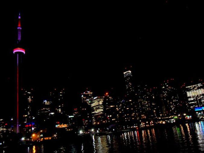 Mariposa Cruises, Northern Star, Ship, Toronto, Canada, Skyline, night, TS76