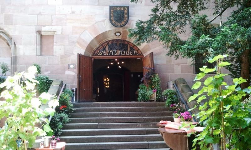 Nuremberg, Germany, Nürnberg, Deutschland, Heilig Geist Spital Restaurant, entrance, food, travel, TS76