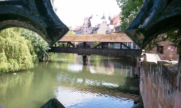 Nuremberg, Germany, Nürnberg, Deutschland,view of hangman's Bridge, travel, photography, TS76