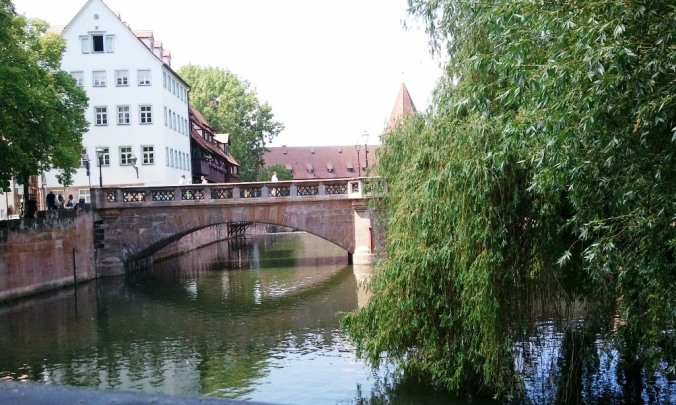 Nuremberg, Germany, Nürnberg, Deutschland, view from, hangman's Bridge, travel, photography, TS76
