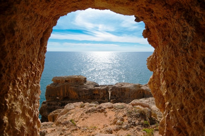 Alcove, Arch, Algarve, Portugal, travel, photography