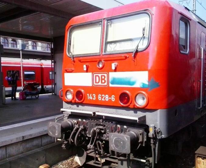 Germany, Nuremberg, Hauptbahnhof, Deutsche Bahn, train