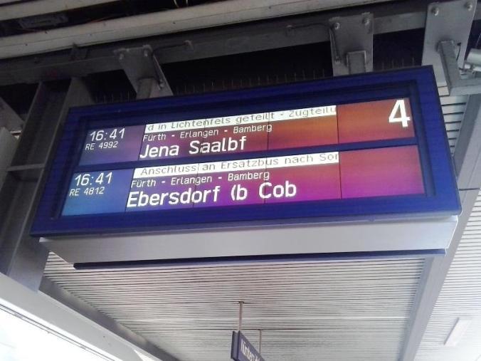 Germany, Nuremberg, Hauptbahnhof, Schedule