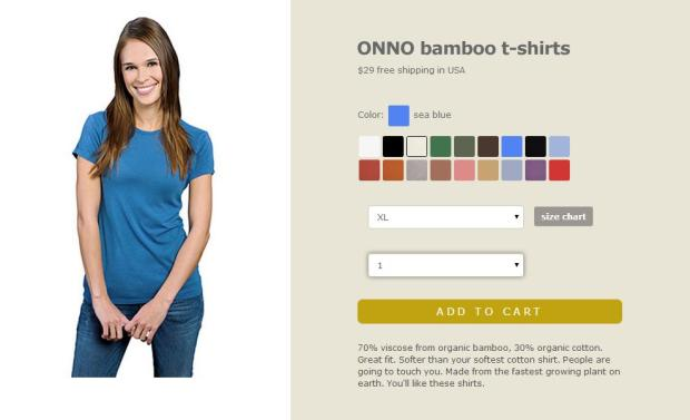 ONNO, ONNO t-shirts, bamboo t-shirt, seablue t-shirt, t-shirt