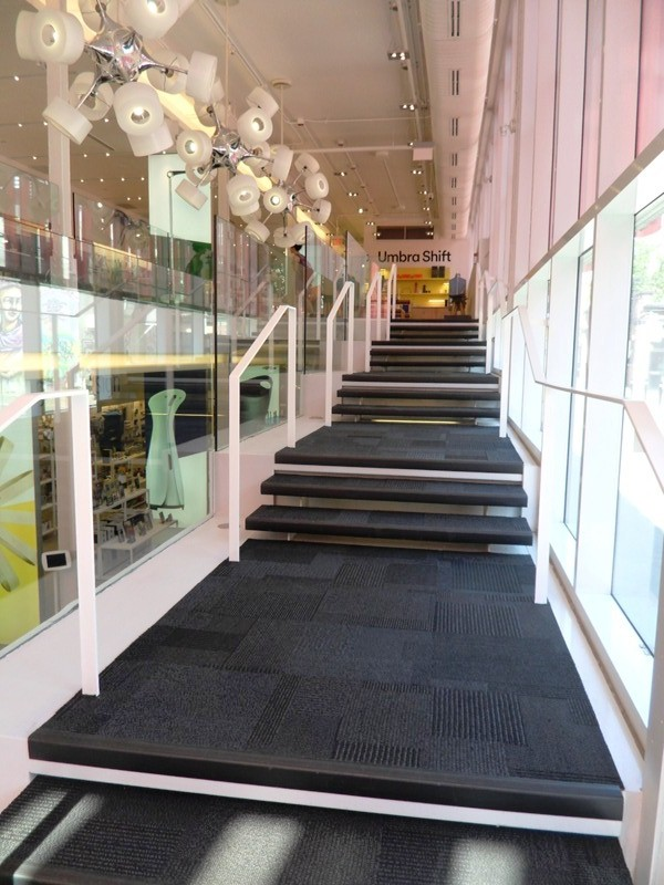 stairs, Umbra, concept store, Toronto, Ontario, design, photography, TS76