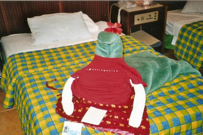 Varadero, Cuba, towel shape, towels, room service, travel, photography, TS76