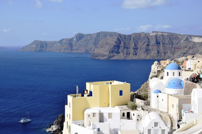 View, sea, Santorini, Greece, hellas, travel, photography