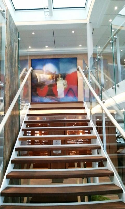 Viking Cruises, Viking Atla, Longship, atrium, stairs, river cruise