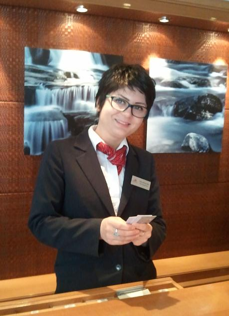 Viking Cruises, Viking Atla, Olivia, reception desk,