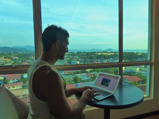 Nomadic Boys, gay travel, photography, travel, room, view, Kota Kinabulu, Malaysia, Borneo, digital nomad