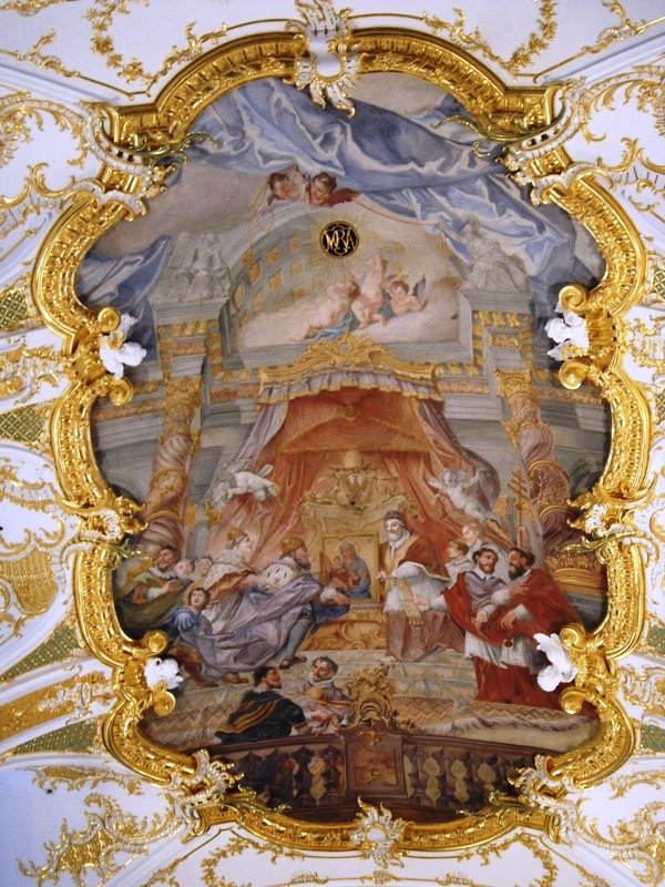art, art on ceiling, mural, fresco, Alte Kapelle, Regensburg, Germany, Deutschland, photography, TS76