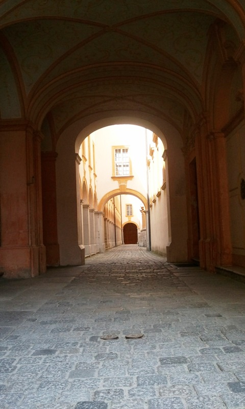 Imperial corridor, Viking River Cruises, Melk Abbey, Stift Melk, architecture, Melk, Austria, travel, photography, TS76