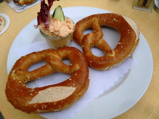 Obatzda, cream cheese spread, pretzels, Passau, Germany, Deutschland, Europe, Europa, river cruise, travel, photography, visit bavaria, Bayern, TS76