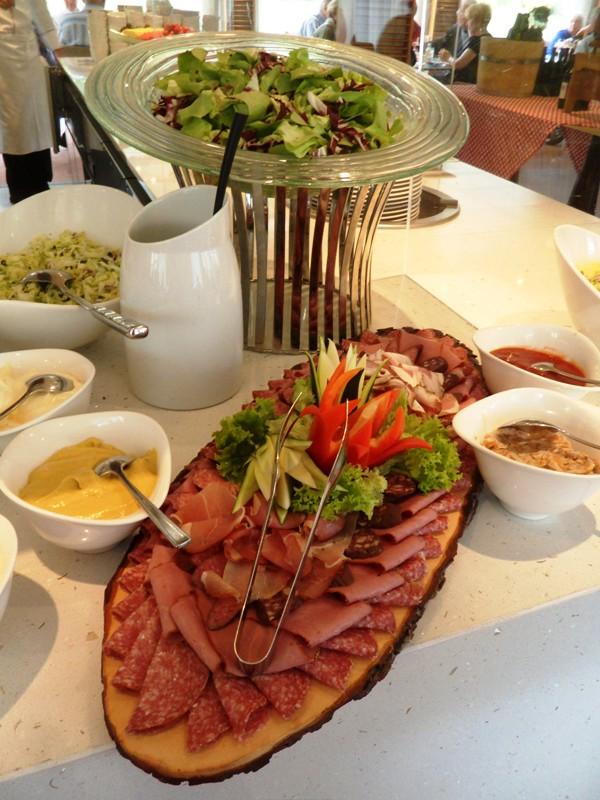 Viking Cruises, Viking Atla, Austrian food, food, foodie, salad bar, cold cuts, Austrian themed, dinner, photography, TS76