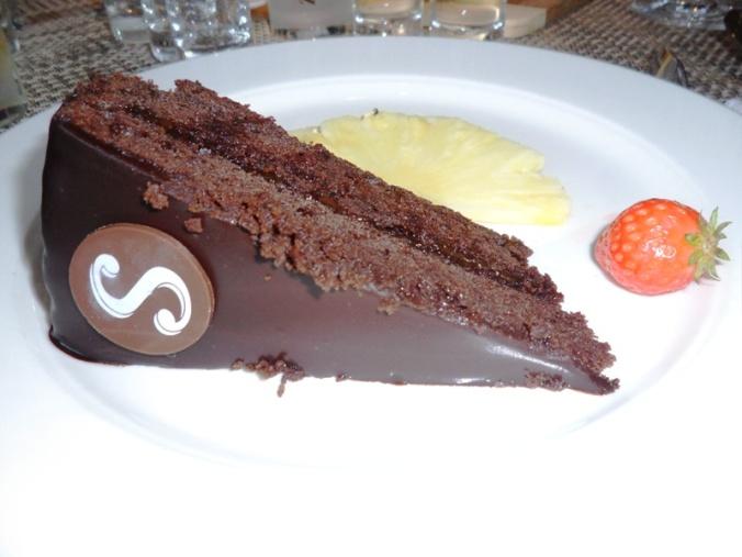 Viking Cruises, Viking Atla, Austrian food, food, foodie, dessert, sweets, pastries, Sacher Torte, Sacher cake, Austrian themed, dinner, photography, TS76