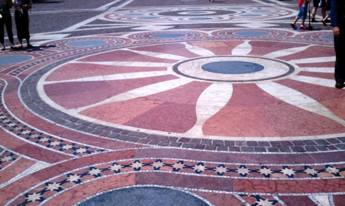 floor, mosaic, St-Stephen's Basilica, Szent István bazilika, Budapest, Hungary, photography, architecture, TS76