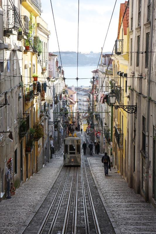 tram, Lisbon, Portugal, travel, photography