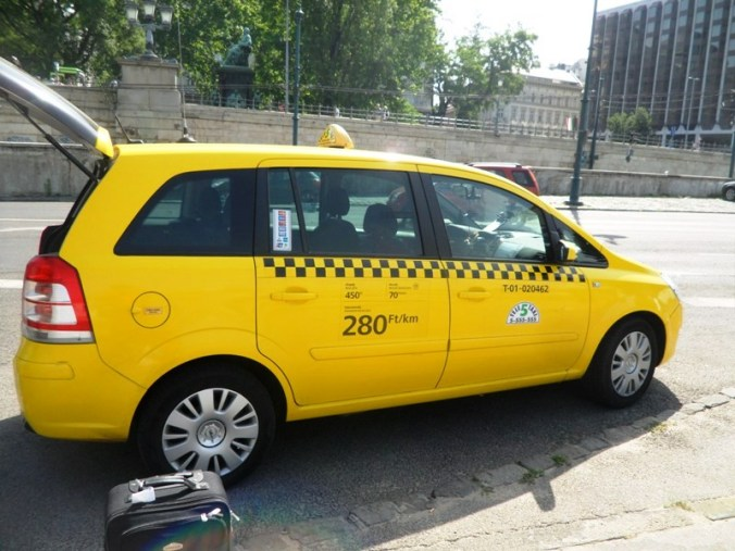 Taxi, taxi van, Budapest, Hungary, TS76