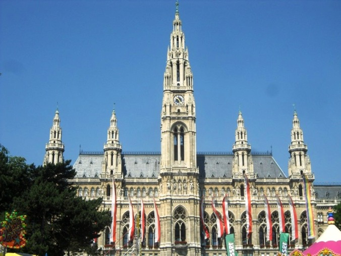 Rathaus, Rathaus Platz, Vienna, Austria, travel, photography, architecture, TS76