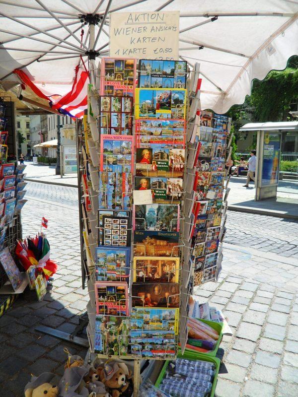 Postcards, Postcard stand, Vienna, Austria, Wien, Österreich, reise, travel, photography, TS76