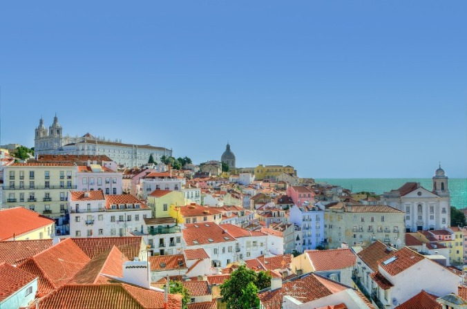 view, Alfama, Lisbon, Portugal, travel, photography