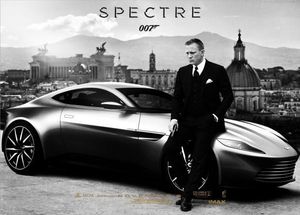 007, movie, Spectre, James Bond, Rome, Italy, luxury car