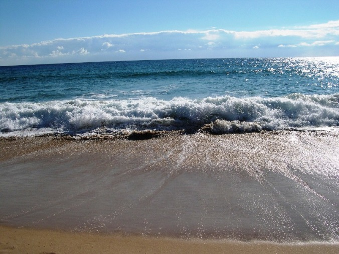 beach, sand, crashing wave, Algarve, Portugal, travel, photography