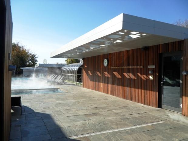 steam bath, exterior pools, gardens, Bota Bota, Spa, Bota Bota Spa-sur-l'eau, Montreal, Quebec, Canada, wellness, spa travel, travel, photography, TS76