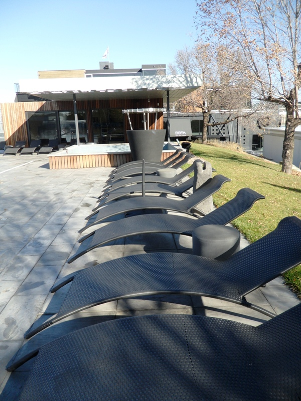 chaise longe, Bota Bota, Spa, Bota Bota Spa-sur-l'eau, Montreal, Quebec, Canada, wellness, spa travel, travel, photography, TS76