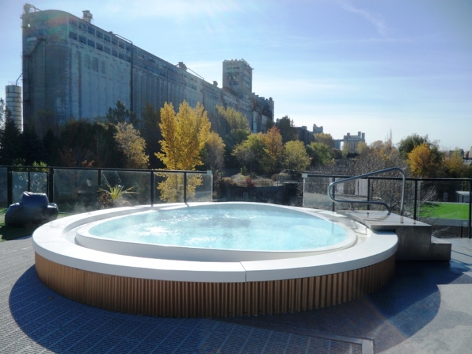 exterior hot tub, hot tub, Bota Bota, Spa, Bota Bota Spa-sur-l'eau, Montreal, Quebec, Canada, wellness, spa travel, travel, photography, TS76