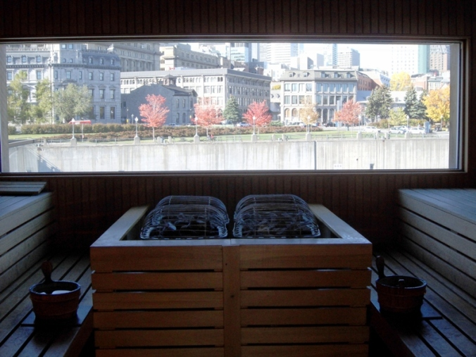 Finnish sauna, sauna, sauna with a view, Bota Bota, Spa, Bota Bota Spa-sur-l'eau, Montreal, Quebec, Canada, wellness, spa travel, travel, photography, TS76