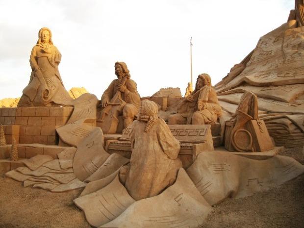 sand, sand sculptures, Pêra, Algarve, Portugal, travel, photography