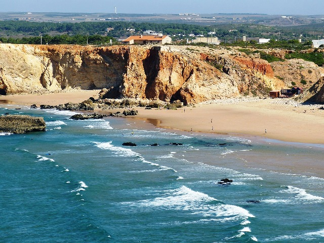 sandy beach, beach, Algarve, Portugal, Europe, seaside, travel, photography