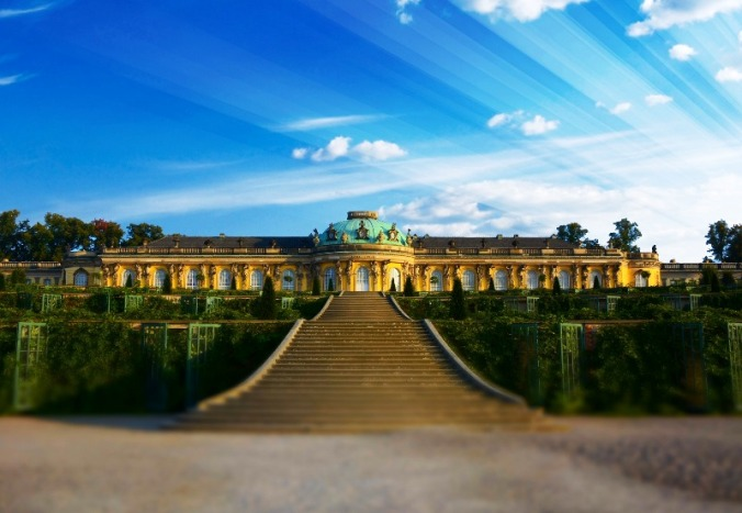 Schloss Sanssouci, Sanssouci Castle, Potsdam, Germany, Deutschland, travel, photography, architecture