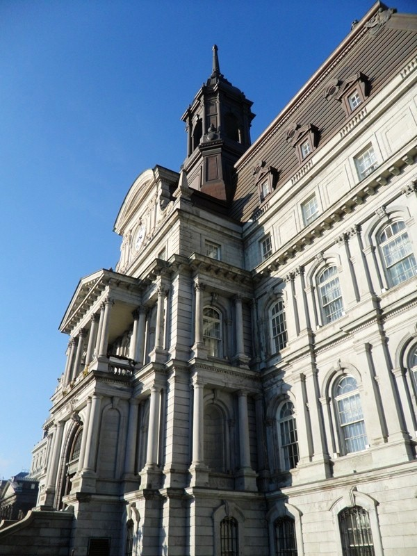 City Hall, Hôtel de ville, Montreal, Quebec, architecture