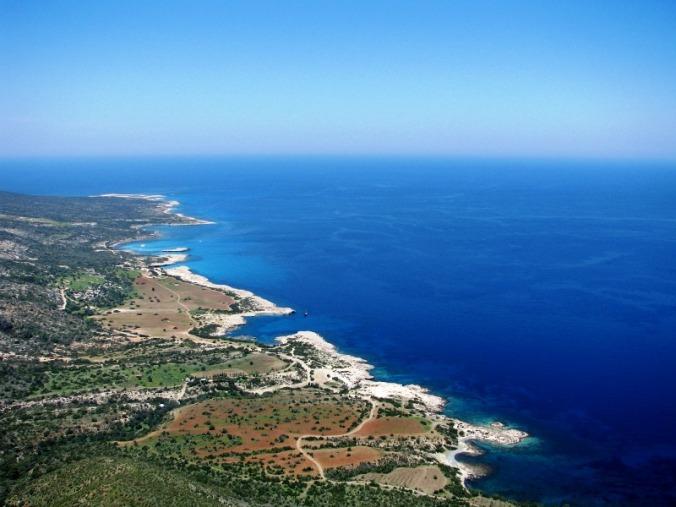 Coastline, aerial view, Cyprus, mediteranean, travel, photography