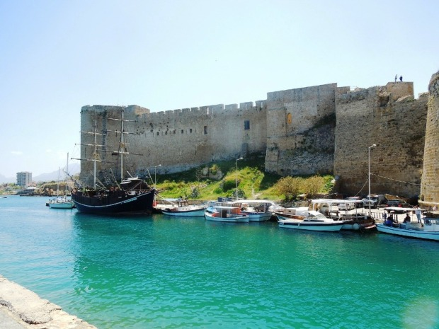 Fort, Cyprus, boats, island, travel, photography