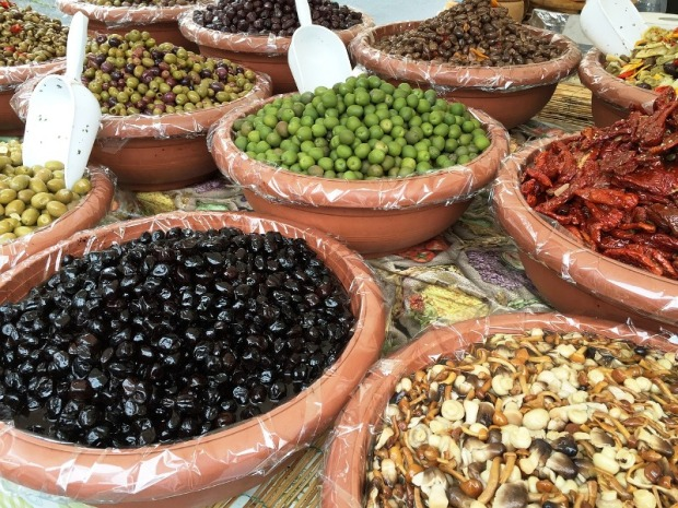 fresh olives, market, Cyprus, food, healthy food, travel, photography