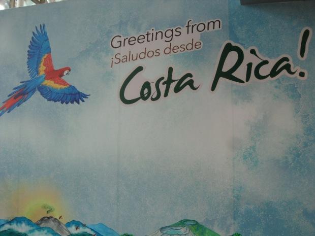 Costa Rica, San José Airport, welcome logo, tiquicia, art