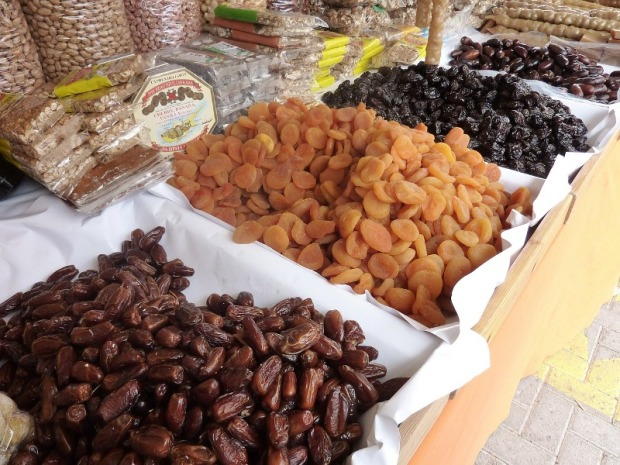 dried fruits, market, Cyprus, food, sweets, travel, photography