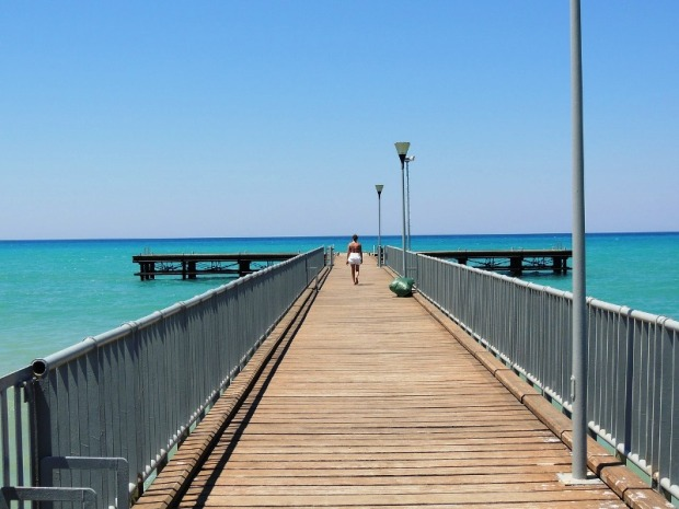 Jetty, Sea, Cyprus, travel, photography